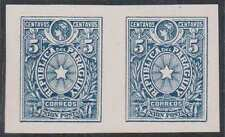 Paraguay 1886. Scott O3. Kneitschel unrecorded. IMPERF PAIR. Proof
