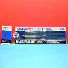 Tamiya #74104 Basic File Set (Smooth Double-Cut) [Craft Tools]