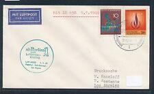 62350) LH FF Frankfurt - Los Angeles USA 1.1.69, Brief ab Berlin