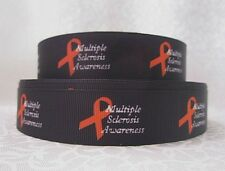 "Multiple Sclerosis 7/8"" grosgrain  ribbon 3 yds hair bows crafts etc  **CHELLE**"
