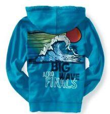 Aeropostale Big Wave Mens Blue Zip Up Sweatshirt Hoodie Jacket Sz L XL XXL 3XL