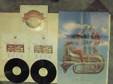 SGT.PEPPERS 2 LP MADE in USA 1978 OST + POSTER Bee Gees Beatles Aerosmith Cooper