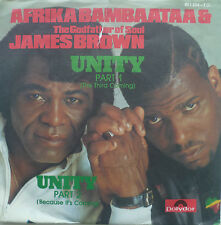 "7"" 1984 MINT- ! AFRIKA BAMBAATAA & JAMES BROWN : Unity"