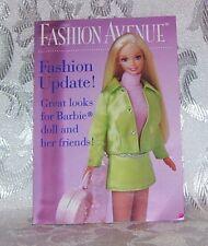 1997 Barbie Doll & Fashion Avenue Booklet Book Mini Clothes Catalogue