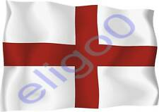 1x ENGLAND  STICKER WAVING FLAG BUMPER decal