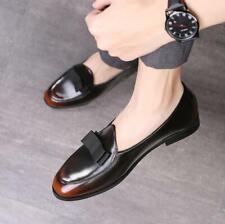 Party Men's Loafers Leather Shoes Slip on Dress Formal Business Pumps Vintage Sz