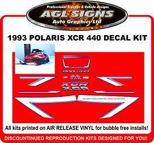 1993 Polaris Indy XCR 440  Reproduction Decal Kit