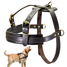 Best Large Dogs Leather Harness Pet Weight Pulling Harness Big Dog Training Vest