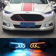 2x LED Daytime Running Fog Lights Lamp DRL For Ford Fusion Mondeo 2013-2015