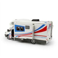 1:32 Camper Van Motorhome Model Car Diecast Toy Vehicle Pull Back White Kid Gift