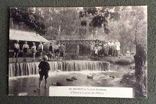 CPA. BRUNOY. 91 - L'Yerres à la passerelle d'Epinay. Pecheurs. Cascade.