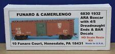 Funaro & Camerlengo 6830 HO BAR 1932 Boxcar w 4/5 Dreadnaught Ends Kit Resin NIB