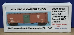 Funaro & Camerlengo 6830 HO BAR 1932 Boxcar w 4/5 Dreadnaught Ends Kit Resin NIB
