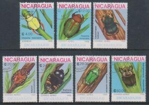 Nicaragua - 1988, Käfer Set - Cto - Sg 3011/17 (B)