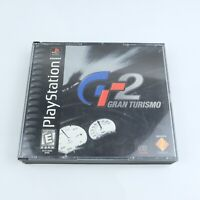 Grand Turismo 2 Playstation 1 PS1 CIB Manual 2 Discs Black Label Tested Works