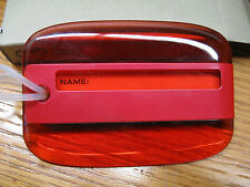 Red Lucid  Luggage Tags, Makes Your Baggage Easy To Spot!