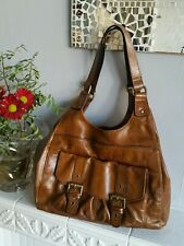 M&S Leather Hobo Tote Handbag Tan Brown Autograph by M&S