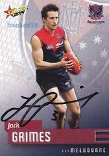 Signed Jack Grimes Melbourne Demons Autograph on 2014 Select Card