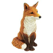 """18"""" Whimsical White Tipped Tail Red Fox Hunt Hand Painted Wildlife Garden Decor"""