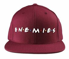 Deadline Mens Burgundy Red Friends Enemies Snapback Baseball Hat Cap NWT