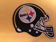"""NFL PITTSBURGH STEELERS HELMET FOOTBALL PATCH  4"""" IRON ON OR SEW ON"""