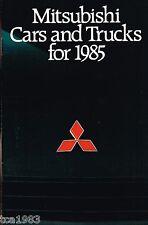 1985 MITSUBISHI FOLLETO: Starion, Galant,MIRAGE,Montero, Camioneta,TREDIA,