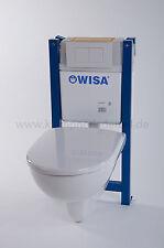 Wisa WC-Set Vorwandelement BH83cm spülrandloses Wand-WC WC-Sitz Absenkautomatik