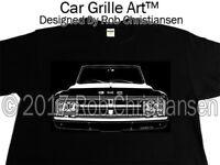 Car Grille Art™ Tee-Shirt T-Shirt, 1968 GMC, Truck, Pickup, 68 GMC