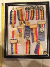 1921-1943 Grand Temple Lodge Knights of Pythias Sisters pin ribbon lot NH Chief