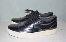 New Hogan Italy Sneaker Metallic Gunmetal Leather Men's Shoe Size US 7 / EU 39.5