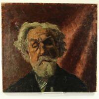 Portrait Münchener Schule um 1900 Öl auf Leinwand Ölbild
