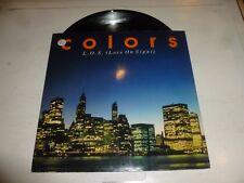 "COLORS - L.O.S. Love on sight - 1985 UK 3-track 12"" vinyl single"