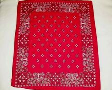 Vintage Red Paisley Tower Fast Color Cotton Bandana Handkerchief Rn13960