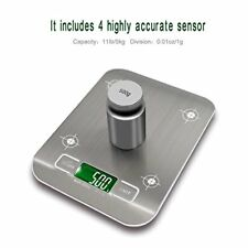 Digital Kitchen Scale Multifunction Food Scale 11 lb/5 kg Silver Stainless Steel