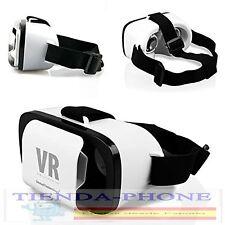 "Gafas VR BOX 3D Realidad Virtual para iPhone Samsung Sony ES 3,5"" - 6,0"" BLANCO"