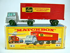 "Matchbox Major Pack M2B Bedford Truck & Trailer ""LEP"" silber/rot/schwarz in Box"