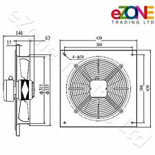300mm Industrial Ventilation Metal Fan Axial Commercial Air Extractor Quiet