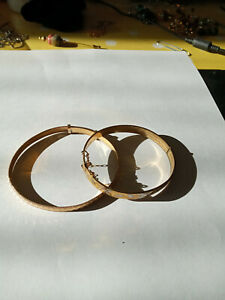Vintage Lot Two Yellow Rolled Gold Bangle/Bracelets. Adjustable Hearts Bangle.