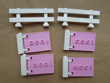 NEW LEGO FRIENDS STABLE PK 4 PINK STABLE DOORS 2 WHITE PADDOCK FENCES HOUSE CITY