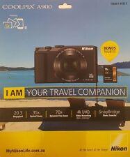 NIKON Coolpix A900 20MP Digital Camera 35x Optical Zoom + Bonus 16GB SD Card AUS