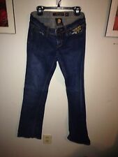 Ed Hardy Christian Audigier Jeans Size 25 Womens  Gold On Butt And Pocket  13G