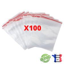 Lot de 100 Sachets Plastiques Avec Fermeture Zip Transparent 8cmx6cm Sachet Zip