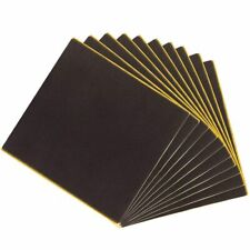 10-Pack 6mm Thickness Adhesive Rubber Neoprene Square Padding Sheets, 6