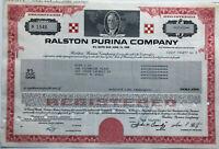 Ralston Purina Company > $25,000 bond certificate 1989 share Nestle Mills feed