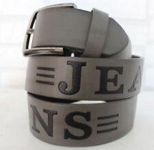 Herren Gürtel Jeans Hosen 3,8 cm Breit NEU verschiedene längen Kunstleder
