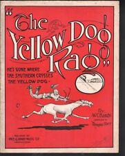 Yellow Dog Rag 1914 Large Format Sheet Music