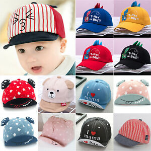 Toddler Kids Baby Boys Girl Baseball Cap Infant Cartoon Summer Snapback Sun Hats