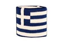 Schweißband Fahne Flagge Griechenland 7x8cm Armband für Sport
