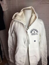 Abercrombie &  Fitch FULL-ZIP SHERPA LOGO HOODIE  GR. L  Off White