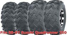 Full Set ATV tires 22x8-10 Front & 24x11-10 Rear 88-02 Suzuki Quadrunner 250